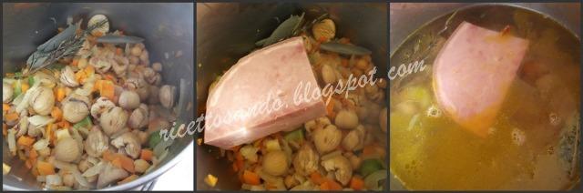 Zuppa di castagne e ceci ricetta primi