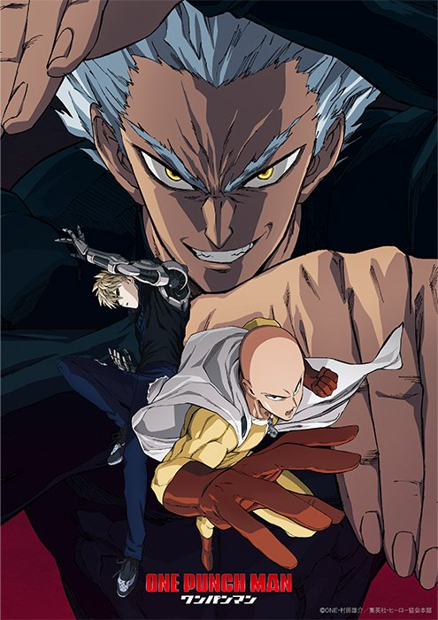 "segunda temporada de ""One-Punch Man"" (ワンパンマン), que se estrenará en abril de 2019."