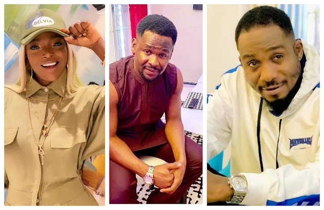 Any woman that calls you out online is a wrong woman- Zubby Michael and Junior Pope slams Annie Idibia for bringing her martial crises on social media