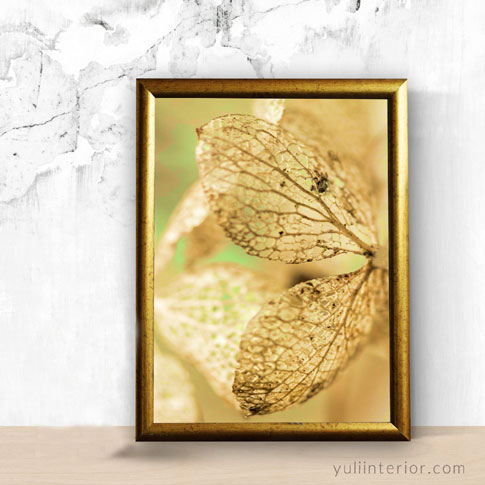 Abstract gold leaf art framed print, wall frame in Port Harcourt, Nigeria