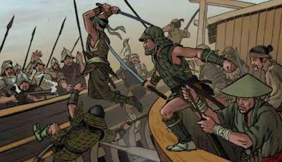 pertempuran pasukan Spanyol melawan Jepang