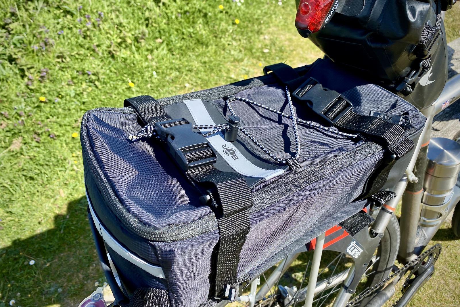 btr deluxe pannier rack top bicycle