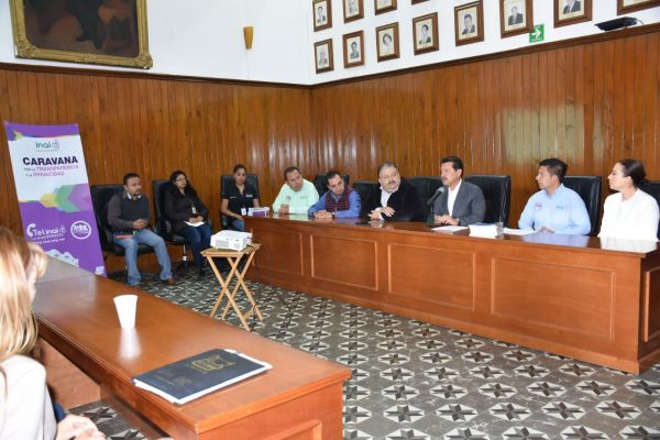 Recibe gobierno de Cholula a la caravana por la transparencia