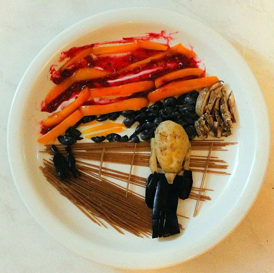Food Art Harley Langberg Edvard Munch The Scream