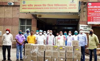 समाजसेवी ज्ञान प्रकाश सिंह ने जिला अस्पताल को अब दिया 6000 सेफेक्सान इंजेक्शन  | #NayaSaberaNetwork