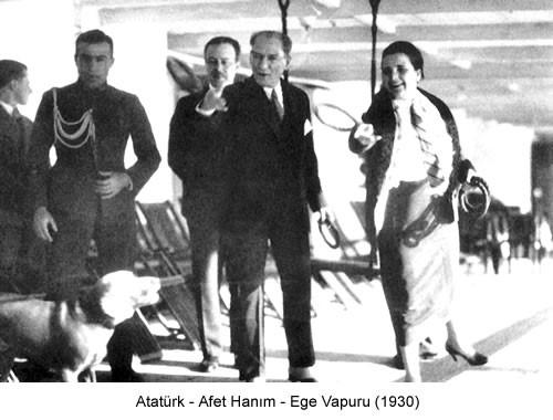 Atatürk Afet Hanım 1930 Fotoğraf