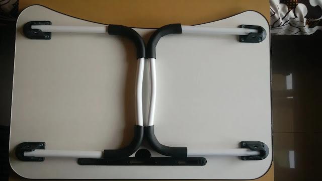 Tarkan foldable laptop table foldable metal legs white paint