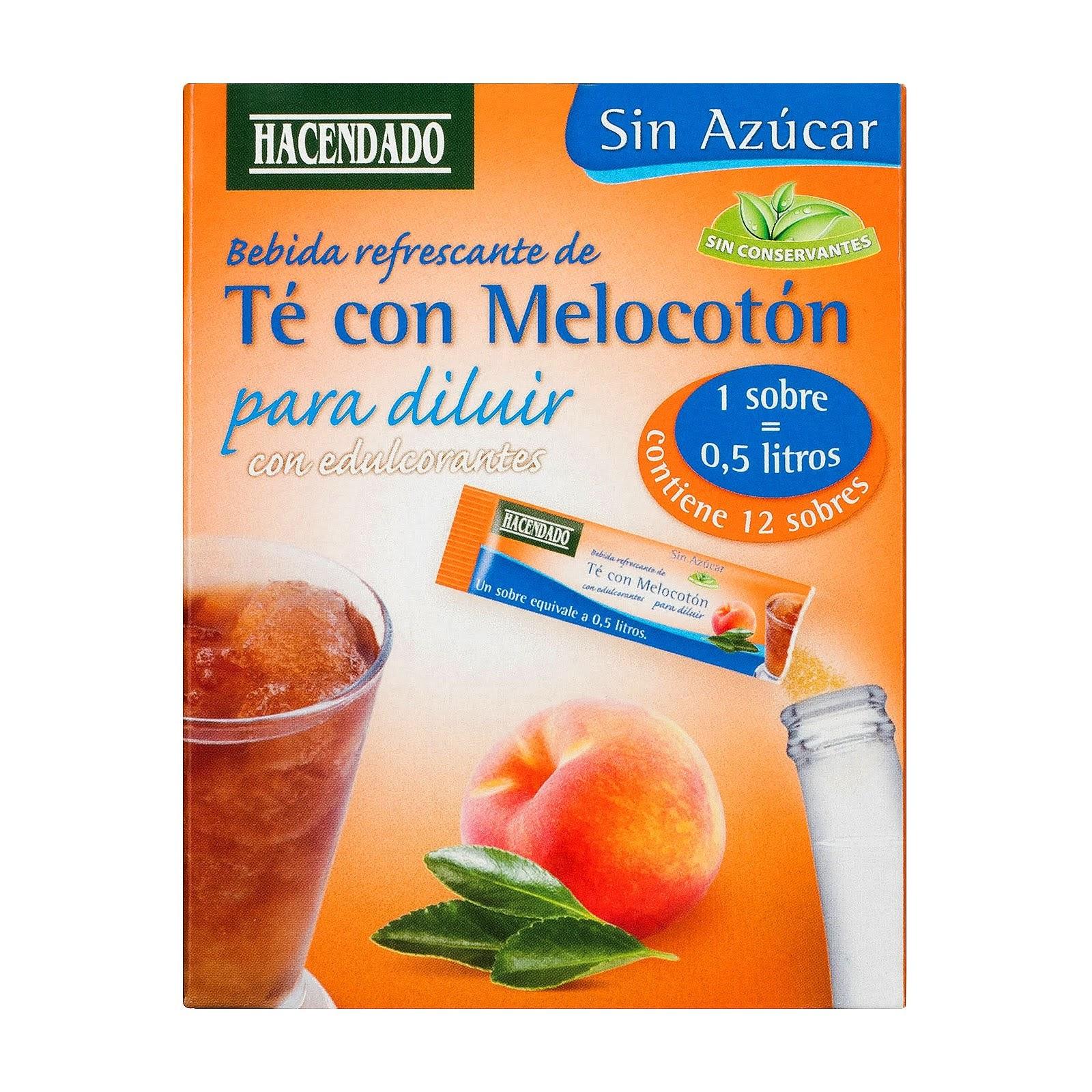 Bebida refrescante de té con melocotón para diluir Hacendado