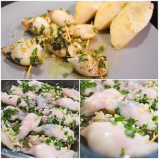 Gefüllte Calamari aus dem Ofen