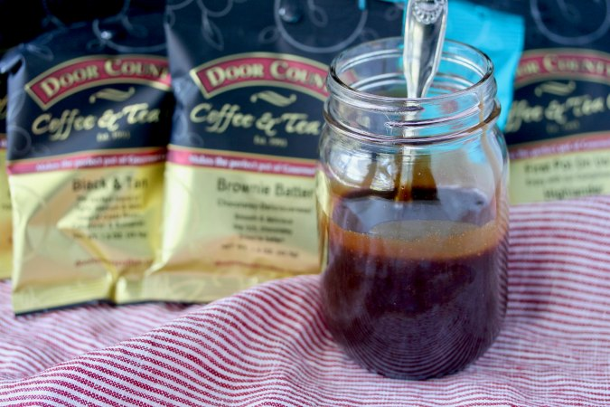 Coffee Caramel Sauce with flavored coffees