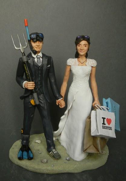 sposi divertenti regalo matrimonio decorazioni torte nuziali orme magiche