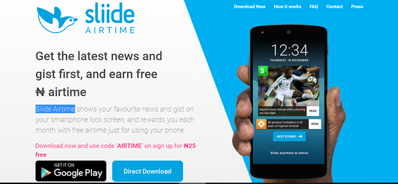 Sliide Airtime rewards users for reading news