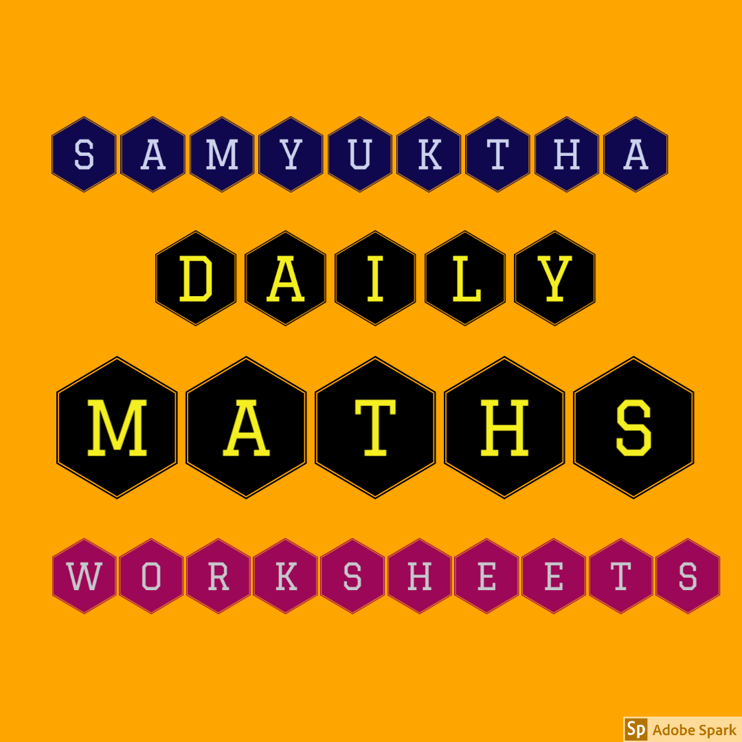 Daily Maths Worksheet 71