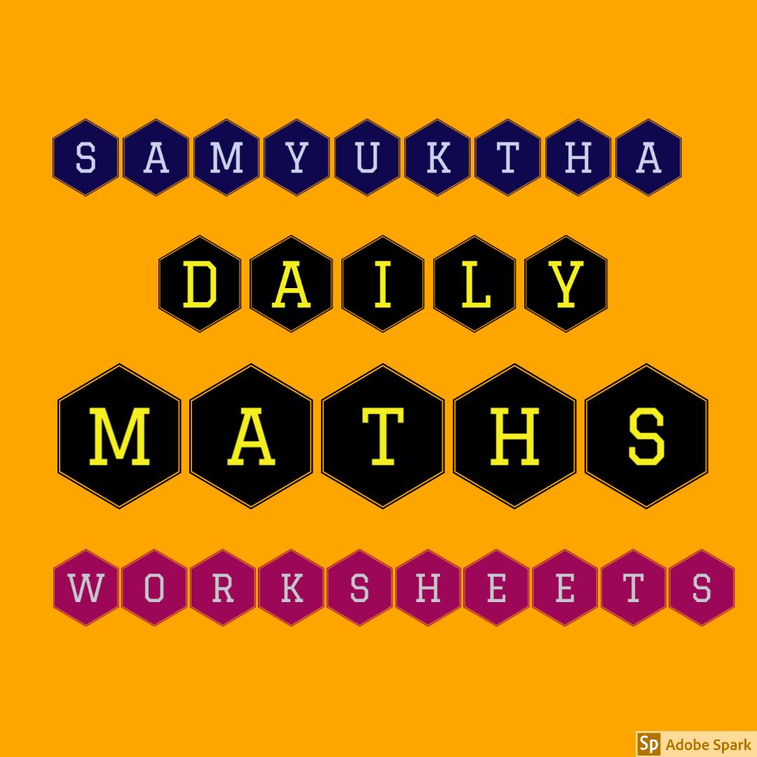 Daily Maths Worksheet 47