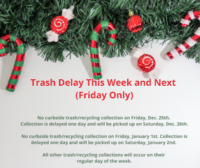 Franklin Residents: Trash Delay This Week & Next ~ Friday Only