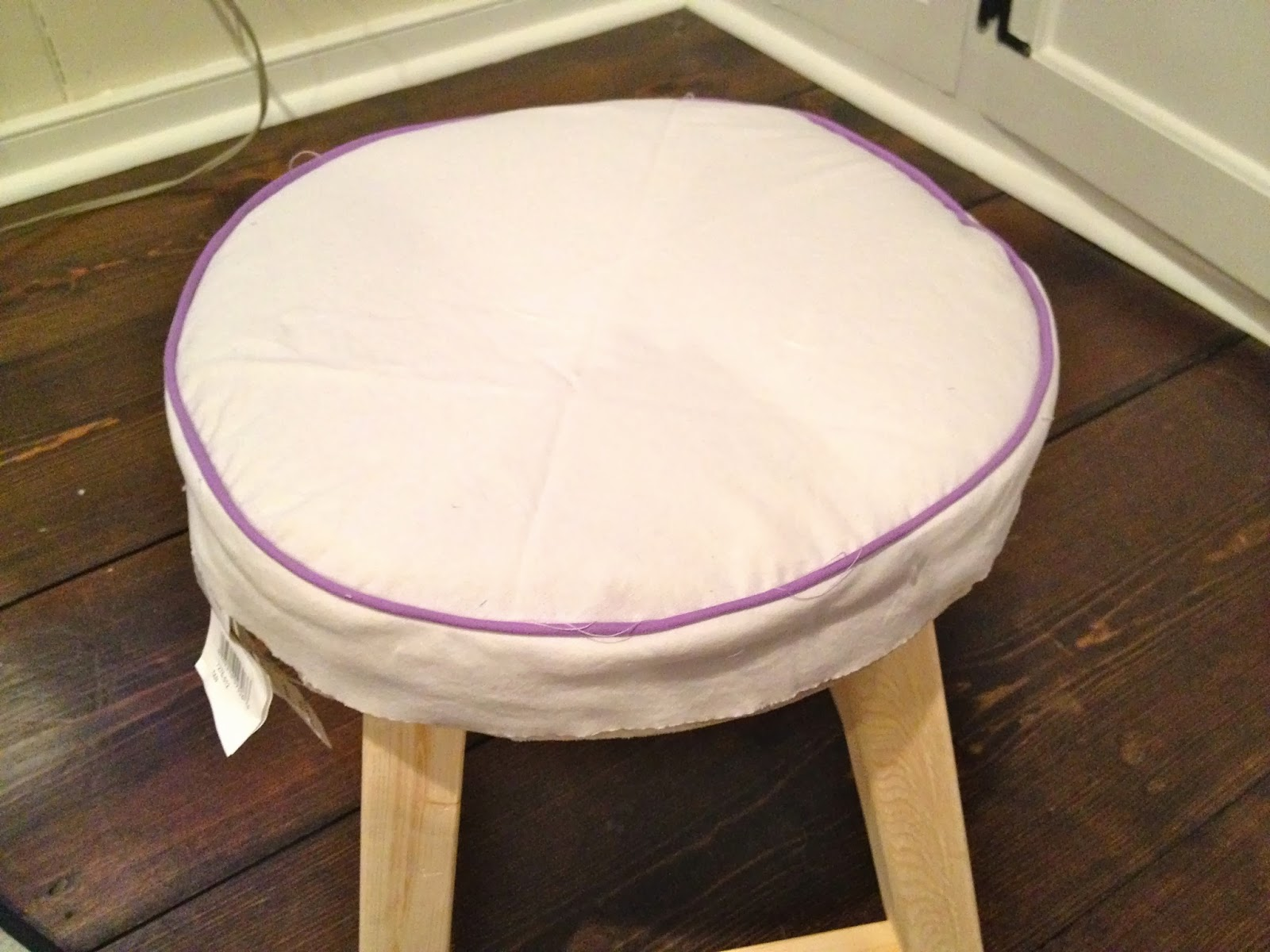 That S My Letter Diy Vanity Stool Amp Slipcover