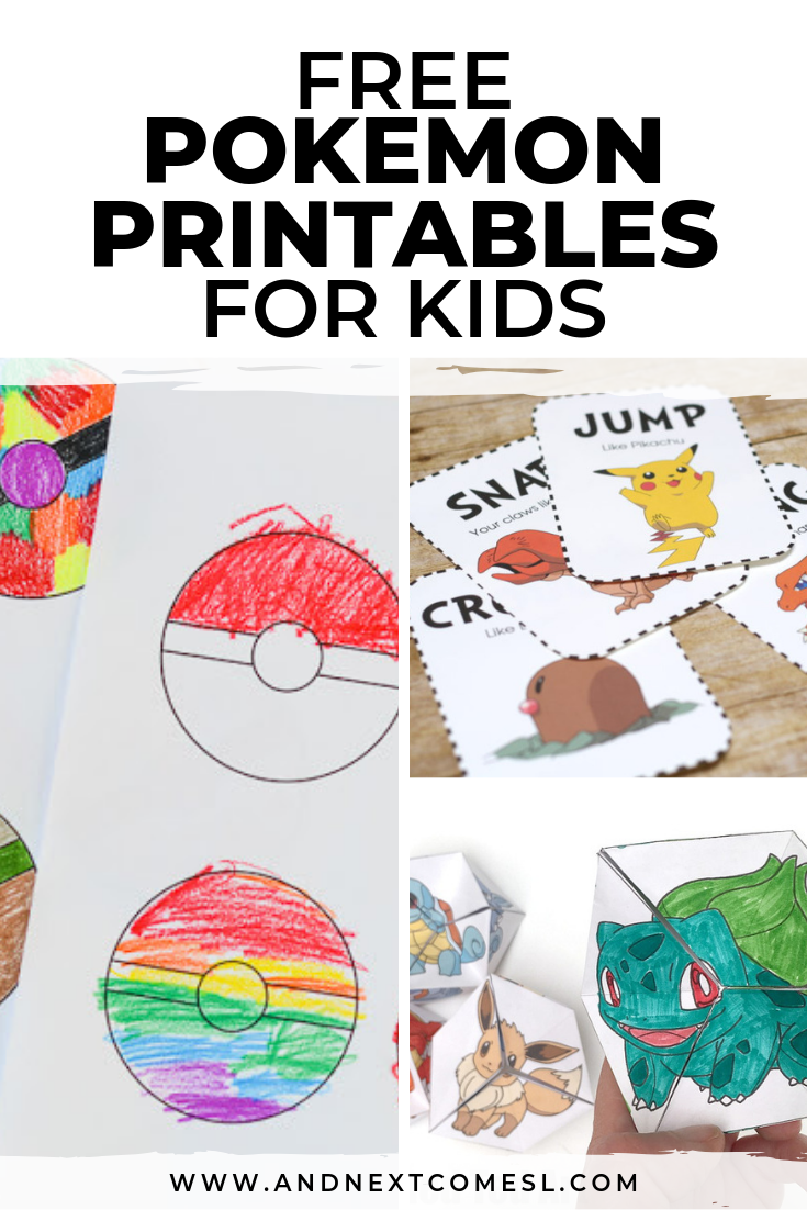 Free Pokemon Printables for Kids | And Next Comes L