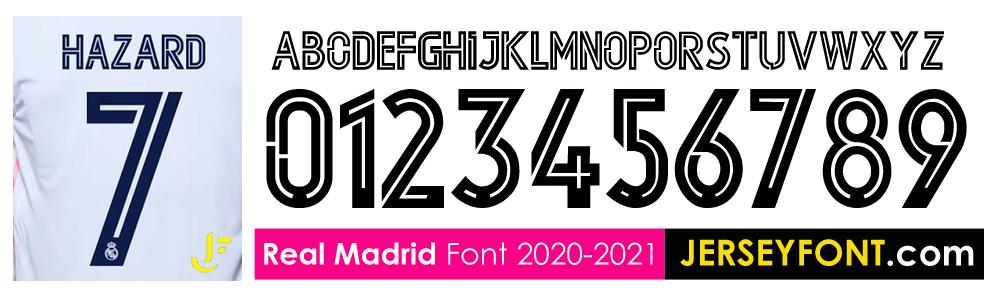 Real Madrid Font 2020 2021