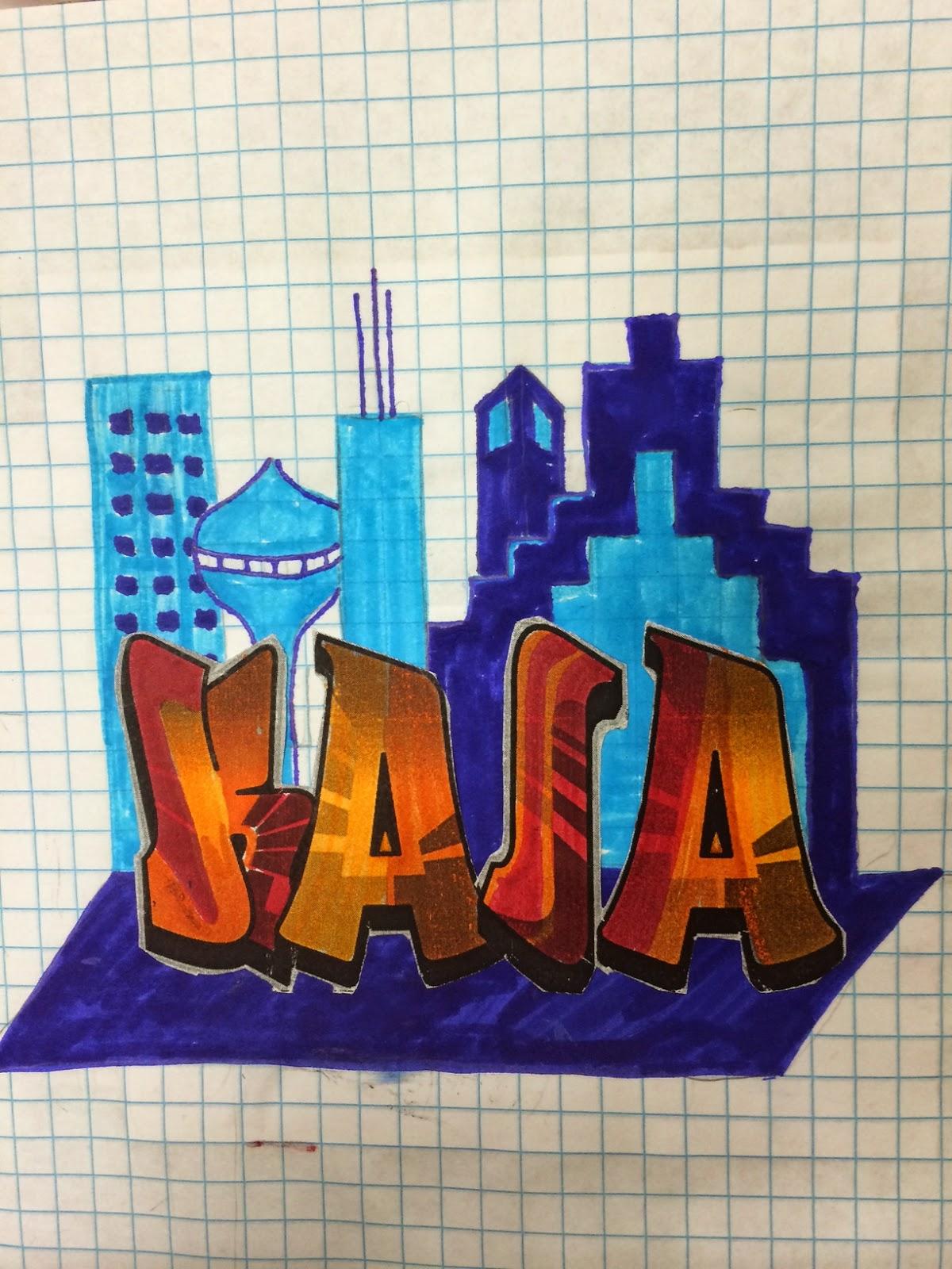 Skyline High School Graphic Design 1 Lesson 4 Graffiti