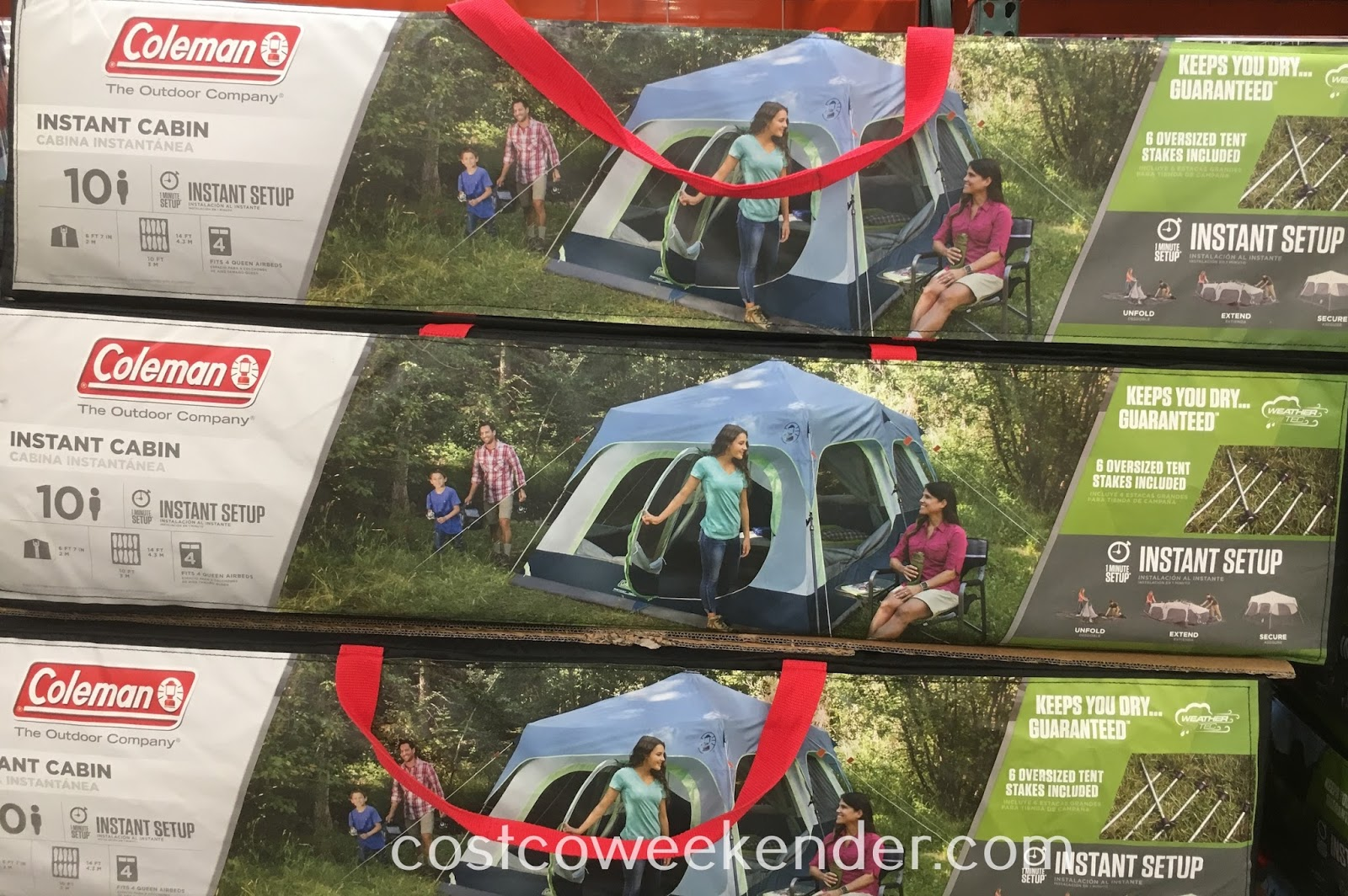 Ensure a good shelter when roughing it in the outdoors with the Coleman Instant Cabin Tent