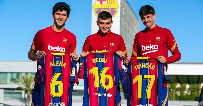 Barcelona has officially assigned first team Jersey number to three youngsters