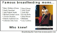 Image: Breastfeeding Biz Cards from mommyguide.com