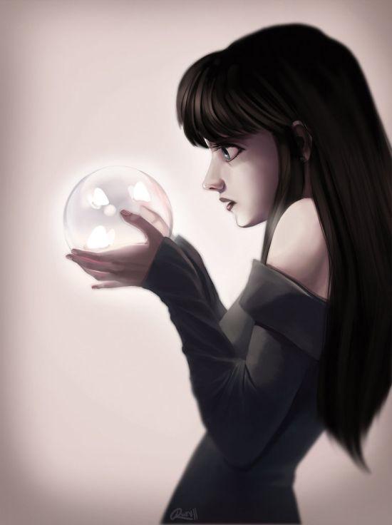 Renée Chio artstation arte ilustrações mulheres singelas