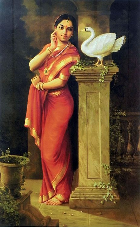 Raja Ravi Verma Paintings of Young Women