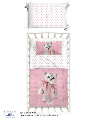 Baby Pink de Caleffi. Set 2 Cuna (Chichonera + edredón)