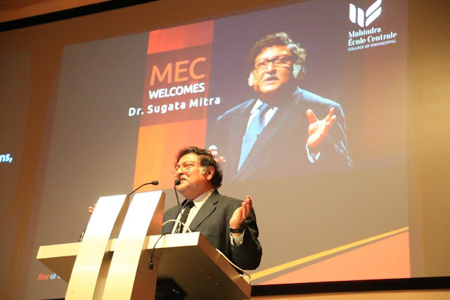 Sugata Mitra, eminent educationist, shares his vision of  the Future of Learning with Students and Faculty of Mahindra  Ecole Centrale