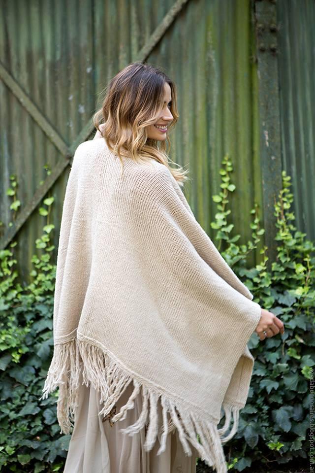 Ponchos invierno 2016 tejidos. Moda invierno 2016.