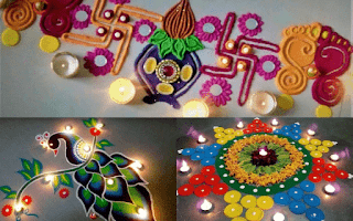 creative rangoli for diwali decoration