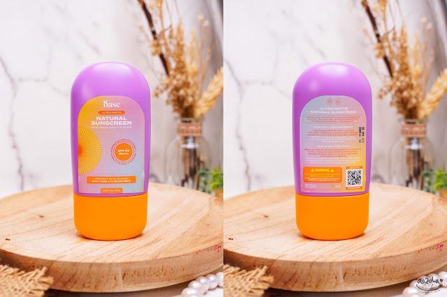 base ultra matte natural sunscreen