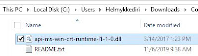 Tambahkan file api-ms-win-crt-runtime