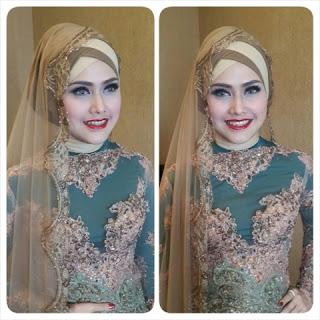 tutorial hijab pengantin modern