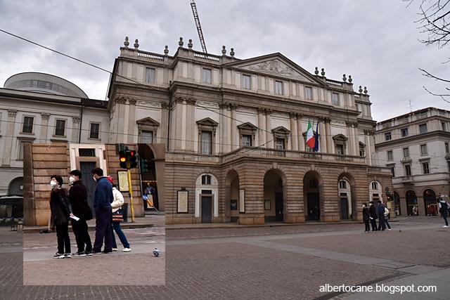 Milano ai tempi del coronavirus, la Scala