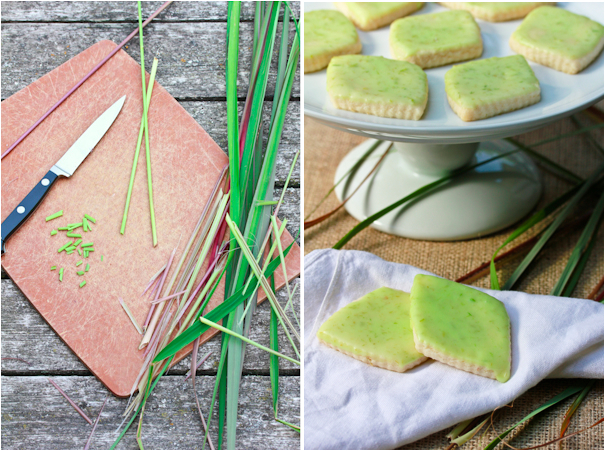 fresh lemongrass baked in shortbread cookies recipe on a spicy perspective