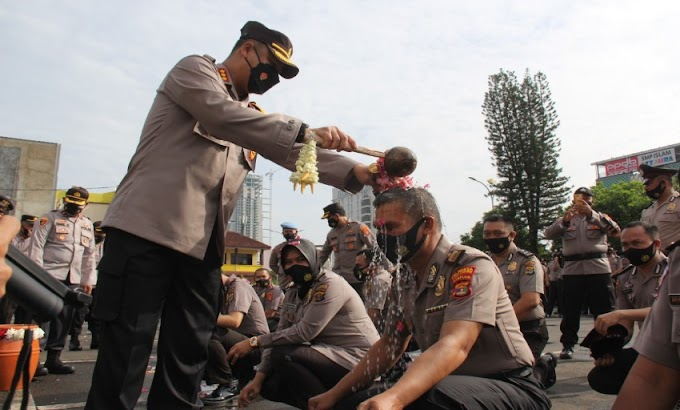 Januari 2021, Sebanyak 211 Personel Polresta Bandar Lampung Naik Pangkat