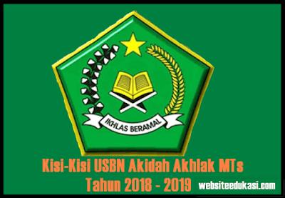 Kisi-Kisi USBN Akidah Akhlak MTs Tahun 2019