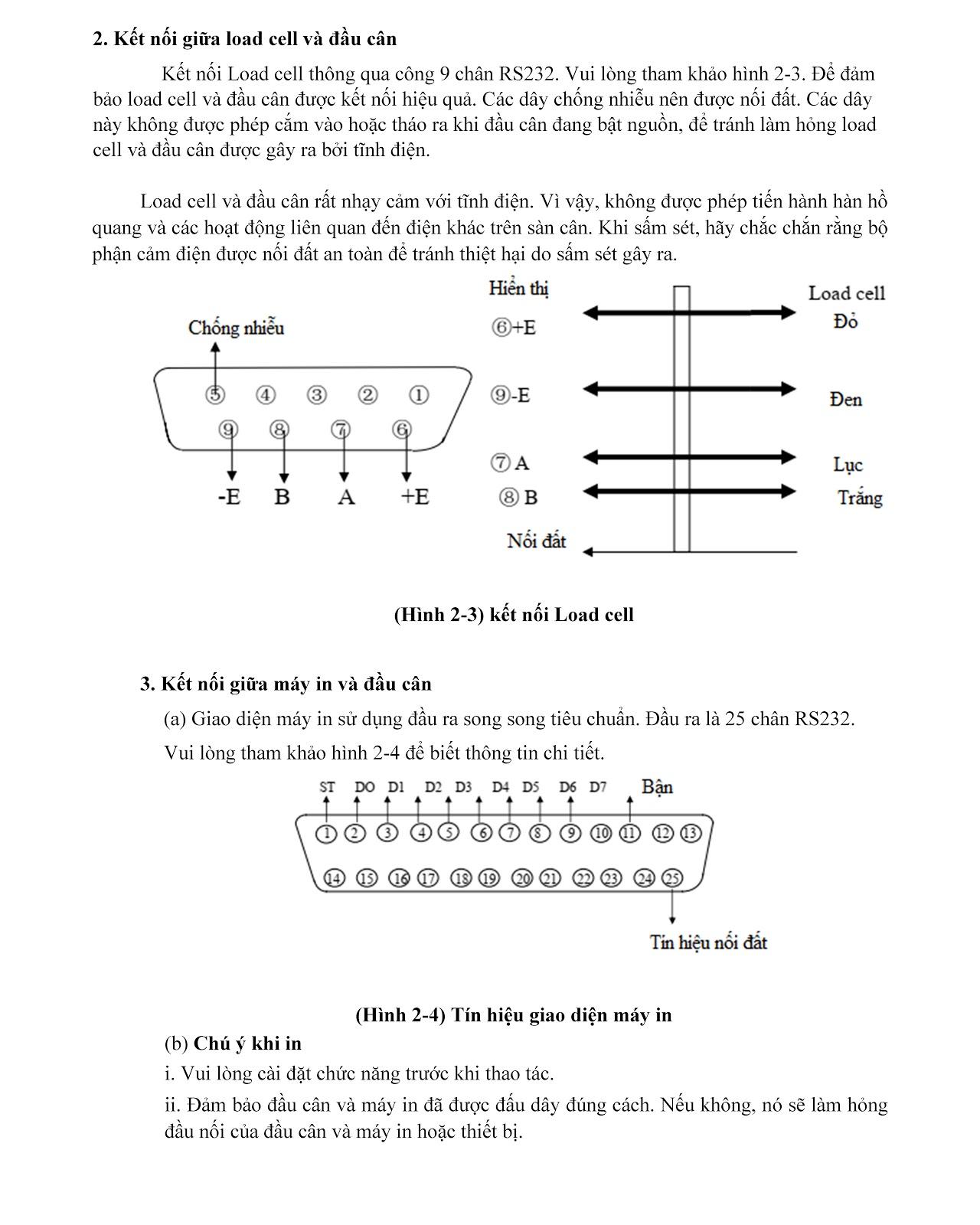 Hướng dẫn cấu hình trên đầu cân kỹ thuật số D2002E 9