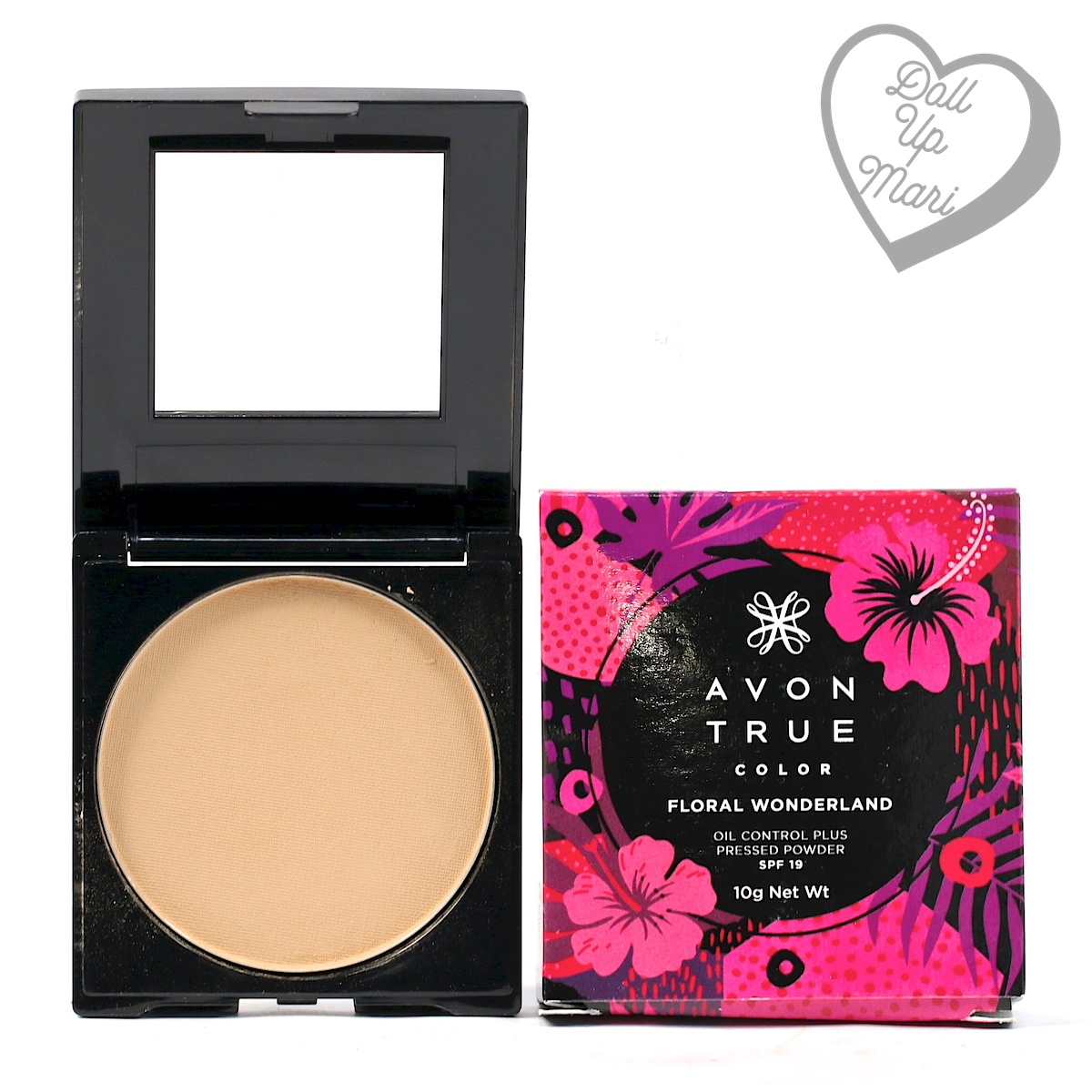 AVON Floral Wonderland Collection Oil Control Plus Pressed Powder