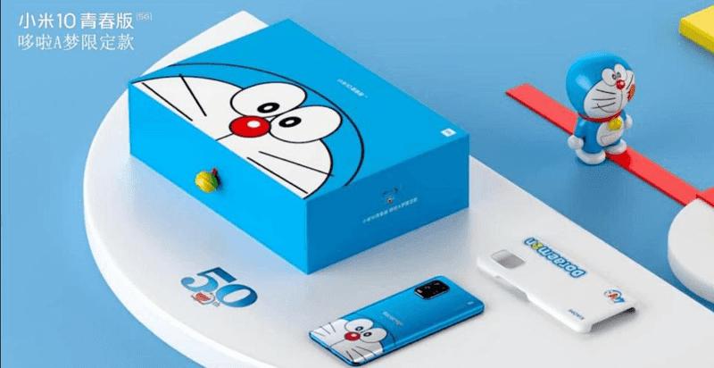 "Xiaomi Mi 10 Youth Edition comes in a cute ""Doraemon"" set in China!"