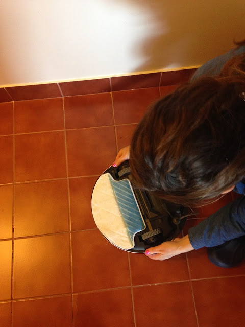 a preparar o deebot para lavar o chão