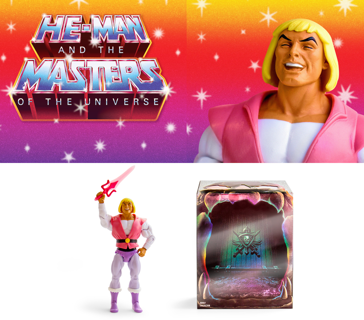 Laughing Prince Adam Hordaks Lair Sdcc Exclusive Figure
