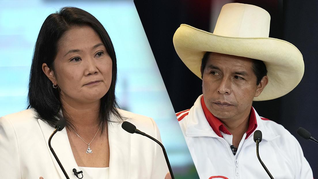 Con actas procesadas al 100%, Castillo lidera las elecciones de Perú, solo resta las observadas