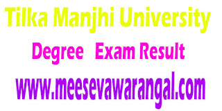 Tilka Manjhi University Degree Part III (Science/Commerce/BBA) 2016 Exam Results