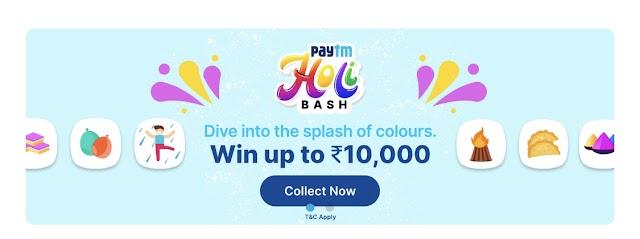 Paytm Holi Bash: Collect Stickers & Win upto ₹7000