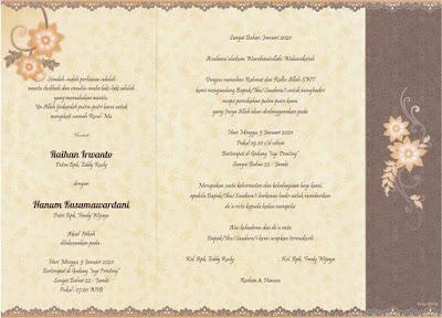 Undangan Pernikahan ERBA 88150 format CorelDRAW