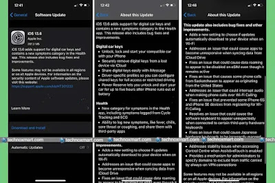 Download iOS 13.6, iPadOS 13.6 By This Means, Released With Auto Updates Over Wi-Fi Settings