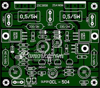 Layout rangkaian amplifier Lapangan  SOCL 504